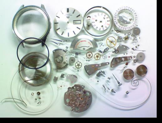 17.セイコー5スポーツマチックデラックス7619A自動巻腕時計 分解掃除(オーバーホール)