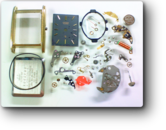 シチズンカスタリア1100Aクォーツ腕時計 分解掃除(オーバーホール)---もうちょっと詳しく・・・拡大版【OVERHAUL】《 時計分解 》【times-machine.com】時計修理の分解工程・組立工程へ